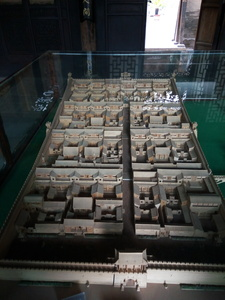 The model of the courtyard 2