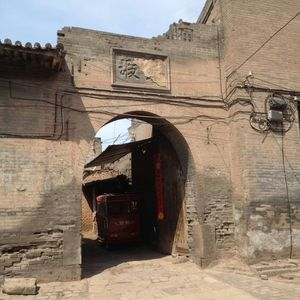 200 years old gate of the residence in ancient city